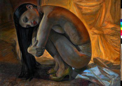 Blue geisha, 2010 oil on canvas100x120cm