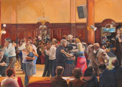 Buenos Aires hora 0, private collection 2008,oil on canvas, 150x500cm,