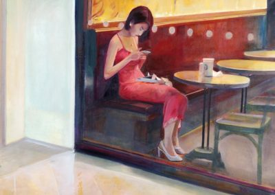 Hopper Thai 2016 - 17, Oil on canvas,70x100cm