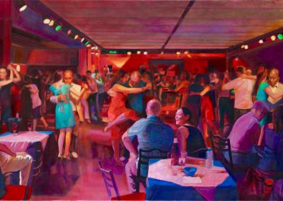 Tango power,2016 Oil on canvas,76x200cm - copia - copia