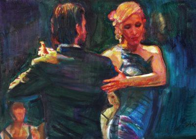 Un hombre y una mujer, 2018,oil on canvas,40x60cm